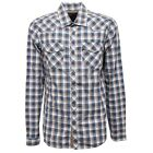7871V camicia uomo MESSAGERIE WITHOUT LABEL brown/blue shirt man
