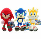 Sonic The Hedgehog Stuffed Doll Plush Toy Gift 8'-- Sonic Knuckles Tails Figure