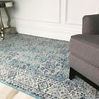 Traditional Distressed Duck Egg Blue Persian Rug Vintage Boho Luxury Area Rugs