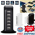 30W Multi 6 Anchorage USB Charger 6A Rapid Charging Station Desktop Travel Hub iPhone