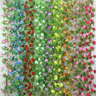 Home Garden - Garden Home Party Decor Fake Flower Garland Artificial Rose Blossom Vine US