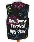 Personalised Novelty Waistcoat Fireworks Dance Festival Design Night Party Music