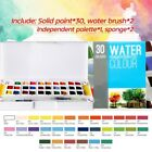 12/24/30 Sketch Water Color Box Set Students Solid Watercolor Paint Set Drawing