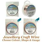 Beadsmith Jewellery Craft Wire Non Tarnish Choose Silver, Gold, Rose, Copper Etc