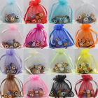 25/50/100X Gauze Organza Jewelry Packing Pouch Drawstring Bag Wedding Favor Gift