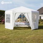 Garden Life Hexagonal Gazebo Marquee Party Tent Outdoor Events Sun Shade Shelter