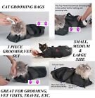 Внешний вид - CAT GROOMING&CARE BAG Restraint System Nail Clipping Carrier Bath Bathing*3 SIZE