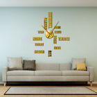 English Letter Number Big Wall Clock Modern 3D Large Frameless Giant Wall Watch