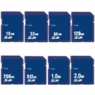 16MB 32MB 64MB 128MB 256MB 512MB 1GB 2GB SD Standard Card Secure Digital Memory