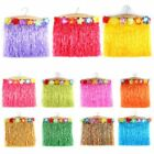 hula costumes - Kids Hawaiian Hula Grass Flower Party Skirt Beach Dresses Tassel Skirts Costume