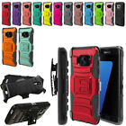 For Samsung Galaxy S7 Edge G935 Color Hybrid Heavy Stand Holster Case Cover