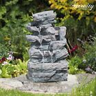 Serenity Rockfall Water Feature Garden Cascading Fountain LED Indoor Outdoor NEW