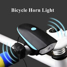 Bicycle Headlight With Loud Bike Horn USB Rechargeable LED Lamp Waterproof Bell
