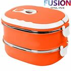 LUNCH BOX THERMOS HEATED FOOD CONTAINER PORTABLE FOOD WARMER KIDS SCHOOL OFFICE