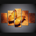 Gold Butterfly Canvas Painting 5 Pieces Wall Art Home Decor