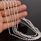 Wholesale 925 Sterling Silver Chain Necklace Women Men Collar 16''-30'' inch