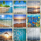 Various Pattern 12 Hook Bathroom Shower Curtain Waterproof  Polyester Fabric Lot