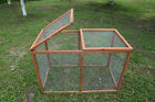 80'' Large Pet Hutch w/ Run Wooden Chicken Coop Cage Nest Box Hen House Deluxe