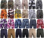 Shorts Camo Military BDU style Woodland Camouflage Mens Rothco