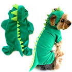 Pet Dog Puppy Dinosaur Costume Coat Green Dragon Dinosaur Apparel Outfit Clothes