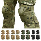 Non-Slip Airsoft Tactical Combat Protective Knee Elbow Pad Set Protector Gear