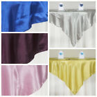 """15 pcs 72x72"""" Square SATIN Table Overlays Wedding Linens for Reception Wholesale"""