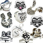 Mum Mother Daughter Family Charm Beads Fit European Style Womens Charm Bracelets