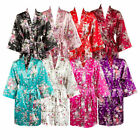 Kyпить USA Bridesmaid Robes Floral  Satin Robes Bridal Party Gifts Silk Floral Robe  на еВаy.соm