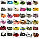 New Outdoor Survival Hiking Climbing Paracord Rope Bracelet Bangle Pick