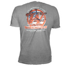 Winchester Classic W Logo with American Flag Vintage Style Men's Graphic T-Shirt image