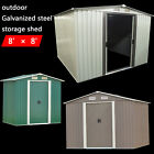 8'x8' Storage Shed Outdoor Garden Backyard Lawn Utility Tool Patio Foundation