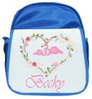 Personalised Girl's Flamingo Ruck Sack / Back Pack / Bag - 2 colours available