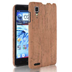 For Lenovo P780 Wood Texture PU Coated hard case Black cover