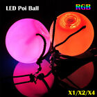 multiple color led poi thrown ball for professional belly dancing hand props