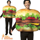 Adult Cheeseburger Costume Unisex Food + Drink Stag Do Fancy Dress Outfit