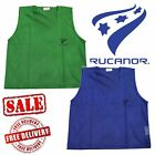 Rucanor Mens Womens Football Mesh Team Bibs Training Sports Adults 12 Pack CLEAR