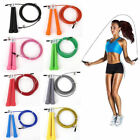 US! Steel Wire Speed Skipping Jump Rope Adjustable Crossfit Fitnesss Exercise 3M image