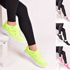 Ladies Womens Lace Up Trainers Gym Running Walking Casual Flat Sports Shoes Size