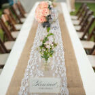 Burlap Hessian Lace Wedding Table Runner Cloth Vintage Rustic Party Decorations