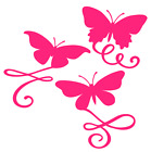 Butterfly Flourishes Vinyl Decal Sticker Home Wall Cup Car Window Decor Choice