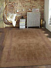 Rugsotic Carpets Hand Knotted Gabbeh Wool Area Rug Contemporary Light Brown