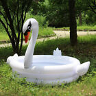 YhsBUY® Trinuclear Giant White Pink Flamingo Swan Pool Children Portable Outdoor