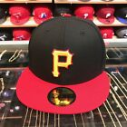 New Era Pittsburgh Pirates Fitted Hat 1999-2000 Alternate Black/Red/Yellow on Ebay