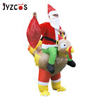 Costume Santa Claus Riding Turkey Christmas Fancy Dress Cosplay Party Men Women