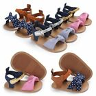 Newborn Infant Baby Girl Soft Sole Sandals Toddler Summer Shoes Bowknot Sandals