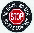 """Stop No Touch Talk Eye Contact Service Dog Patch 3"""" Assistance   Danny & LuAnn"""