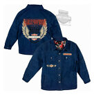 Harley-Davidson Boys Youth Winged B&S Quilted Denim Long Sleeve Shirt Jacket $19.99 USD on eBay