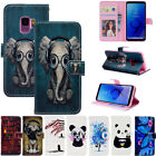 For Samsung Galaxy S9 J2 J3 J4 J6 A6 A8 PU Leather Wallet Case Mask Phone Cover