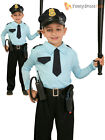 Boys Police Officer Costume Childs Cop Fancy Dress Kids Uniform Book Week Outfit