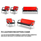 Waiting Room Chair Office Reception PU Leather Airport Guest Sofa Seat Modern